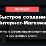Быстрое создание интернет-магазина [Сергей Садыков]