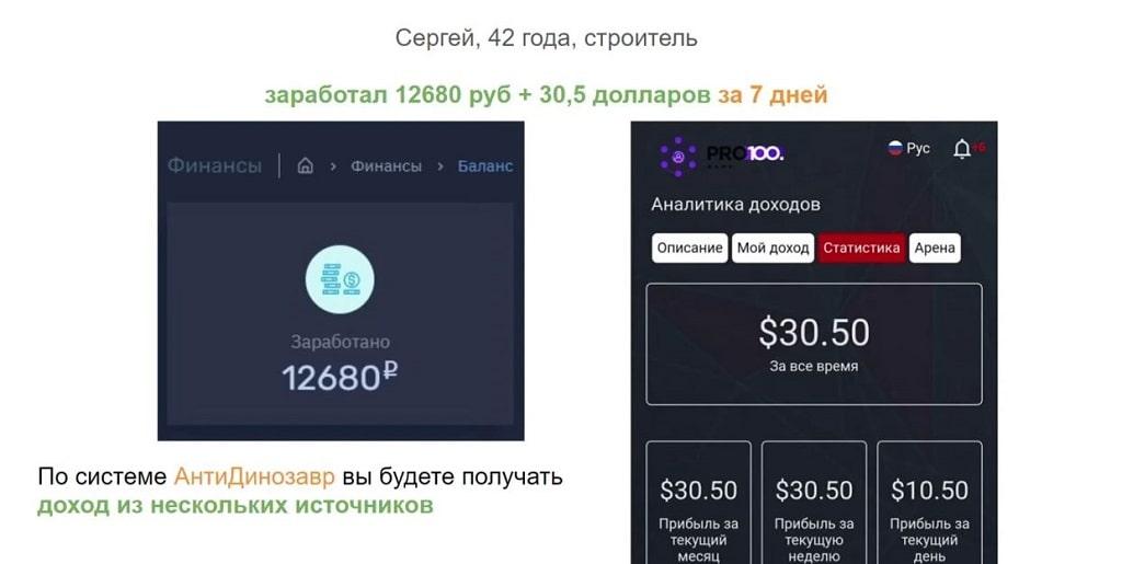 АнтиДинозавр - Система Автоматического дохода от 2000 руб в день