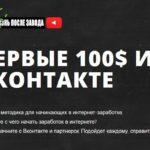 Первые 100$ из ВКонтакте. Проверенная методика заработка