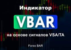 Индикатор VBAR на основе сигналов VSA TA Forex BAR