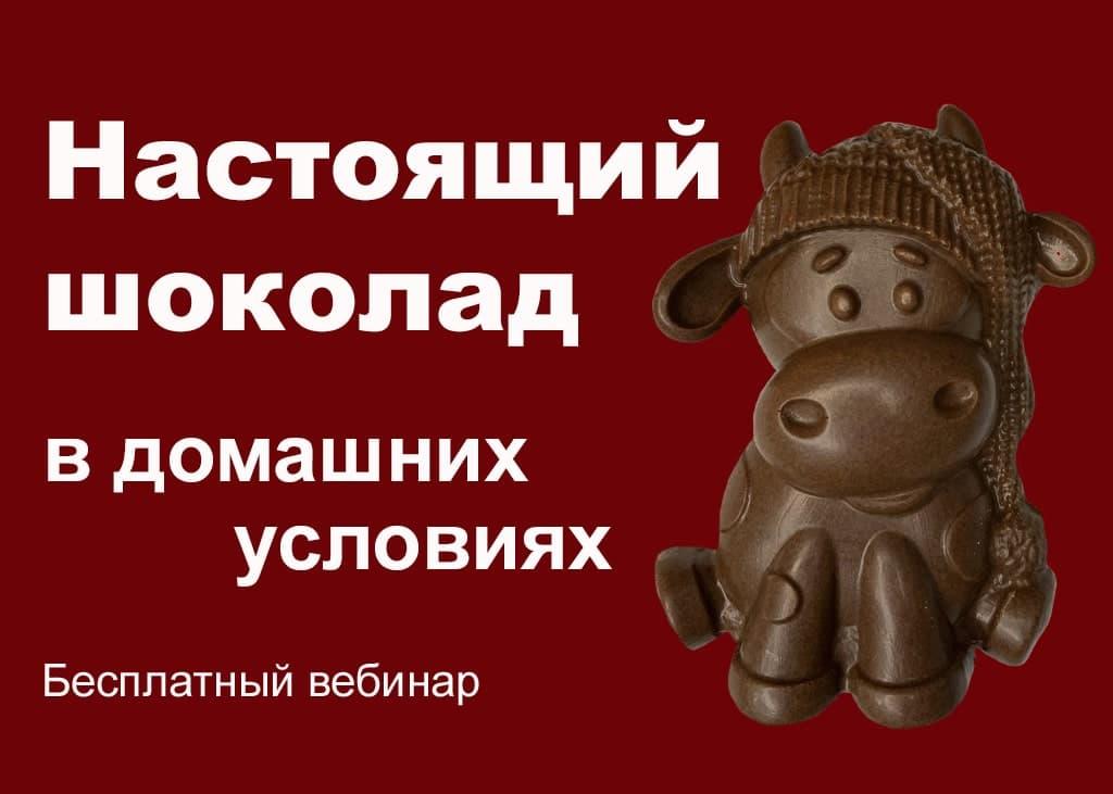 Настоящий шоколад в домашних условиях Бесплатный вебинар